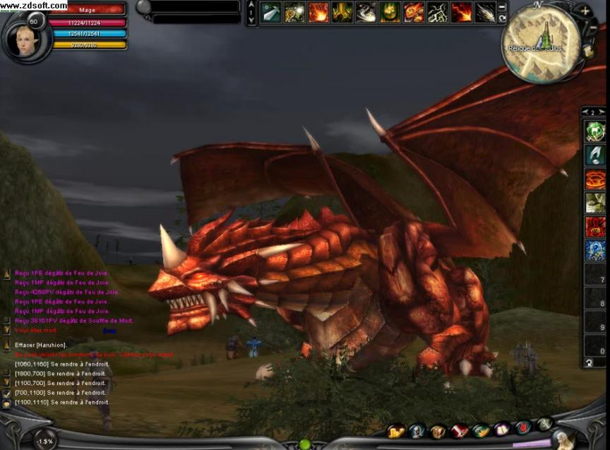 Un dragon en colère