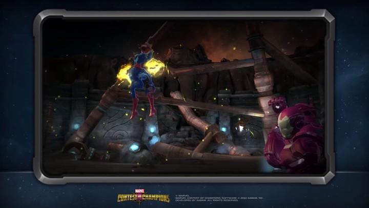 Zoom sur Captain Marvel, dans Marvel Contest of Champions