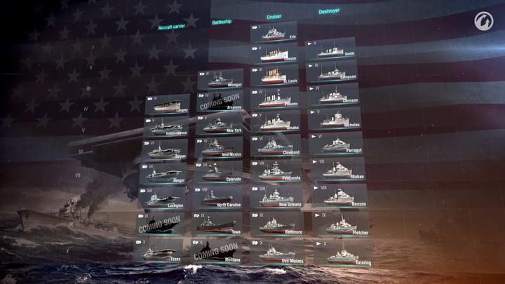 Présentation de la flotte américaine de World of Warships