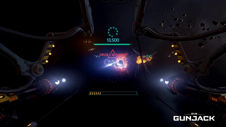 Aperçu du gameplay d'EVE Gunjack
