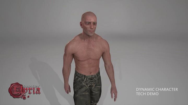 Aperçu de l'apparence évolutive des personnages des Chronicles of Elyria