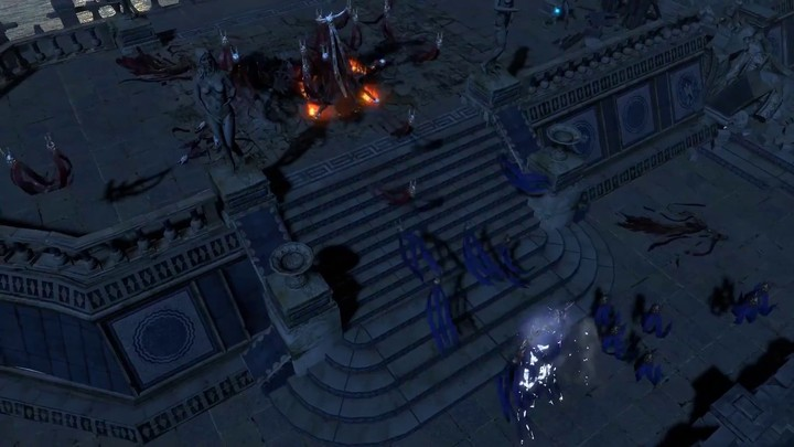 Aperçu de la zone d'Harbour Bridge de Path of Exile: The Fall of Oriath