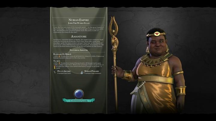 Au tour de la Nubie de rejoindre Civilization VI