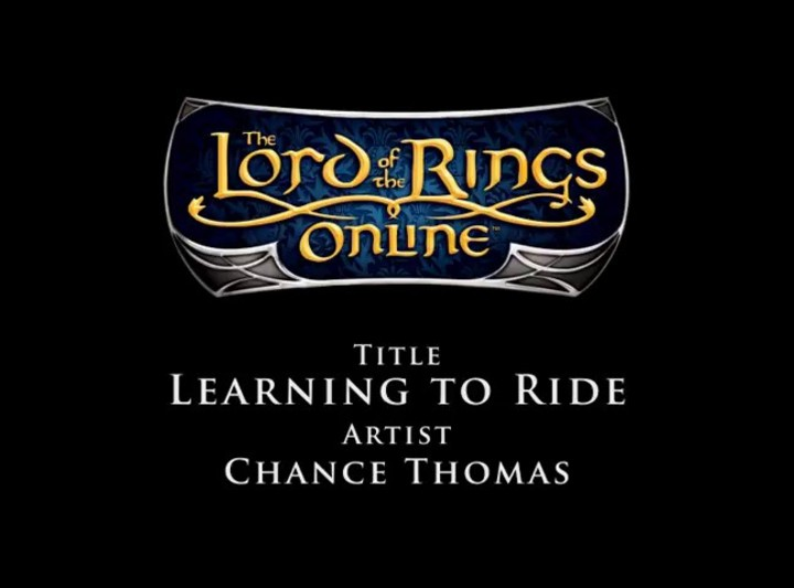 Bande Originale du SdaO - Chance Thomas -  Learning to ride