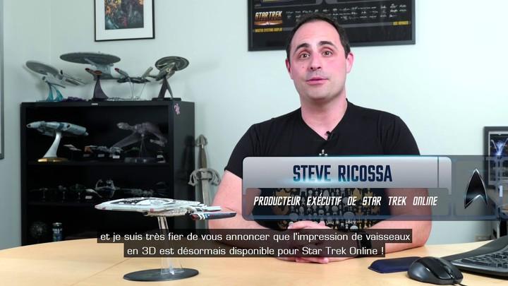 Présentation du système d'impression de vaisseaux en 3D lié à Star Trek Online (VOSTFR)