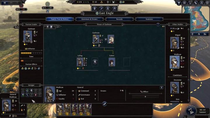 Aperçu du système d'intrigues politiques de Total War Saga: Thrones of Britannia