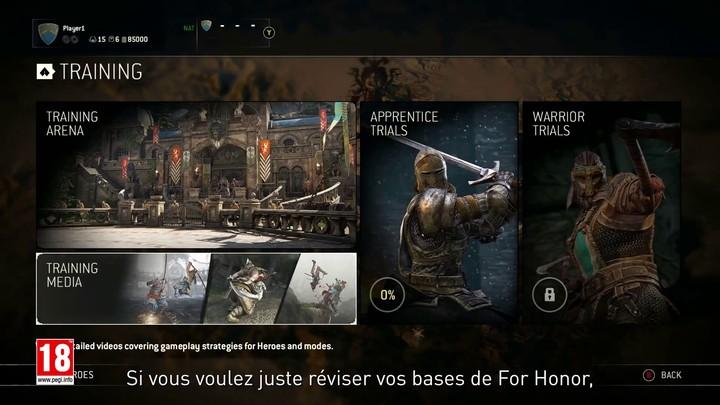Présentation des nouveaux modes d'entraînement de For Honor