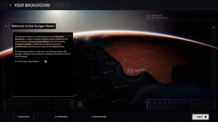 Battletech - Présentation de la personnalisation du personnage et mission tutoriel