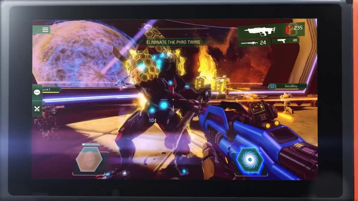 Teaser pour la version Nintendo Switch de Shadowgun Legends