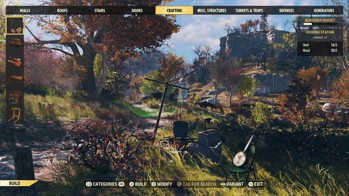 Aperçu du système C.A.M.P de Fallout 76