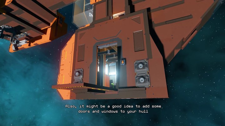 Aperçu de la création de vaisseaux du MMO Starbase