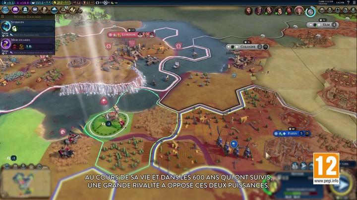 Présentation d'Aliénor d'Aquitaine dans Civilization VI : Gathering Storm