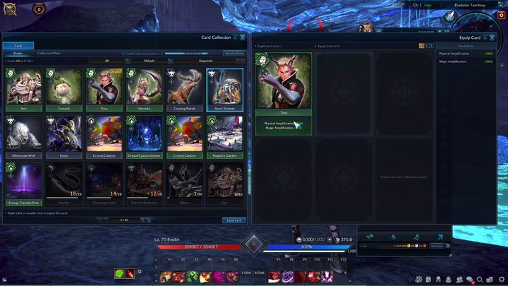 Aperçu du système de cartes à collectionner de Tera