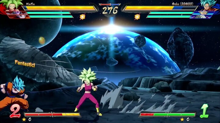 Aperçu du gameplay de Kefla dans Dragon Ball FighterZ