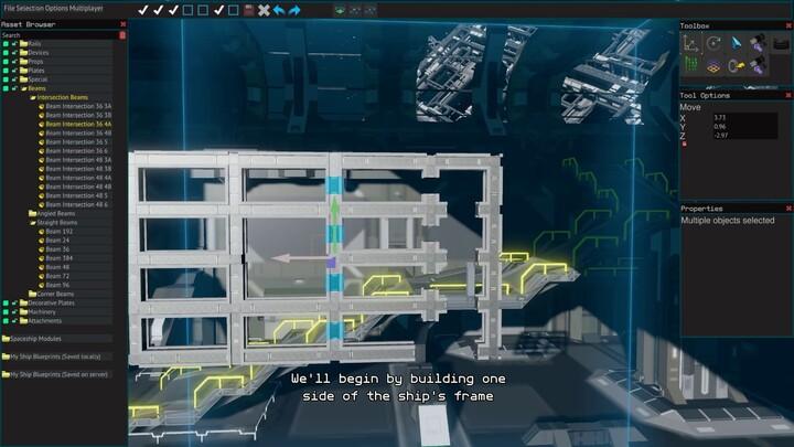 Aperçu de la conception de vaisseaux dans Starbase