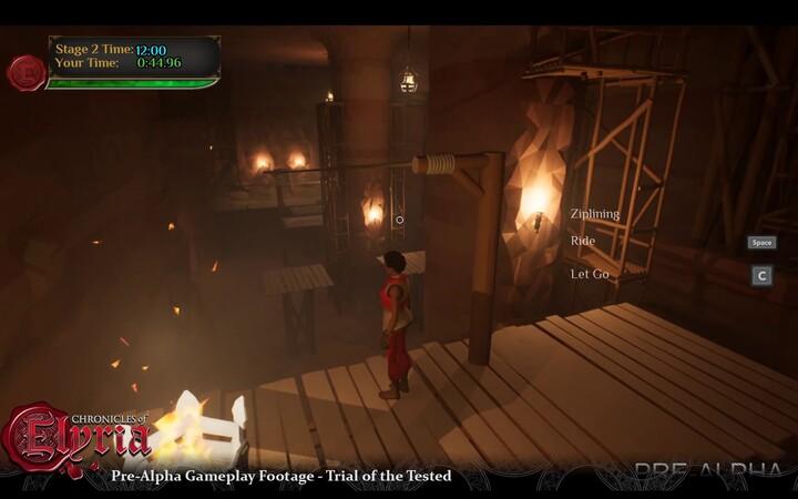 Pré-alpha : aperçu du gameplay des Chronicles of Elyria (exploration de cavernes)