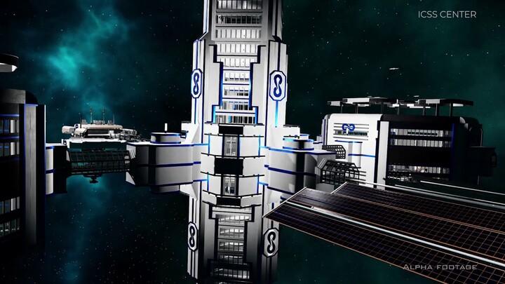 Aperçu des stations créées par les joueurs sur Dual Universe
