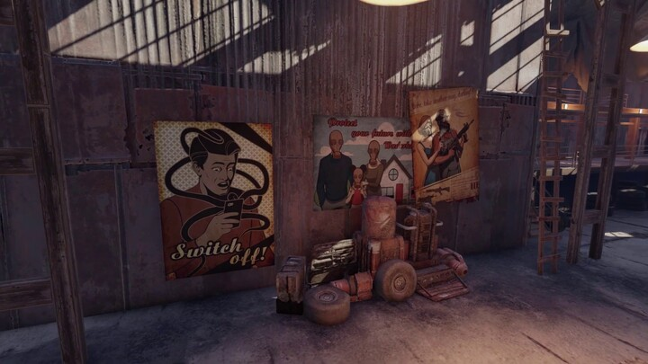 """Aperçu du nouveau garage """"New Dawn"""" de Crossout"""
