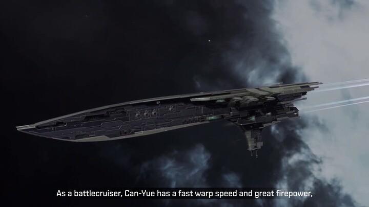 Présentation du croiseur Can-Yue de la faction Yan Jung d'EVE Echoes
