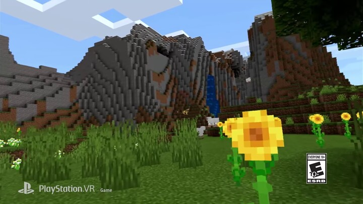 Minecraft se lance sur le PlayStation VR