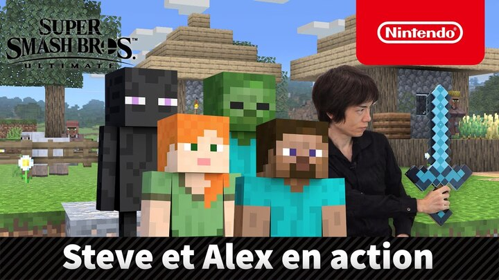 Steve et Alex de Minecraft rejoignent Super Smash Bros. Ultimate ce 14 octobre