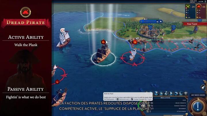 """Civilization VI présente son mode multijoueur """"Pirates"""""""