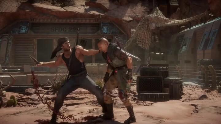 Aperçu du gameplay de Rambo dans Mortal Kombat 11 Ultimate