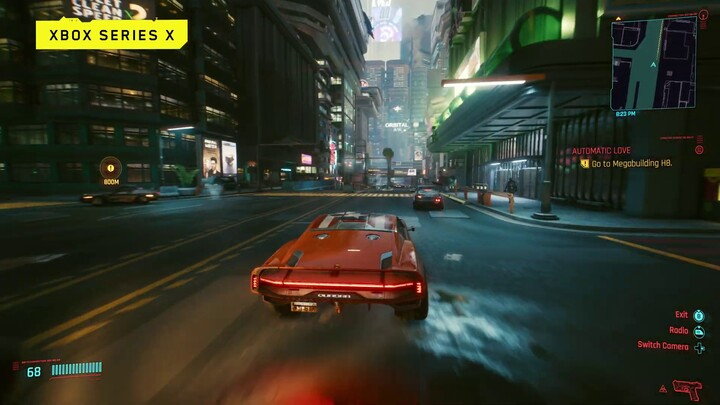 Cyberpunk 2077 s'illustre sur Xbox One X et Xbox Series X