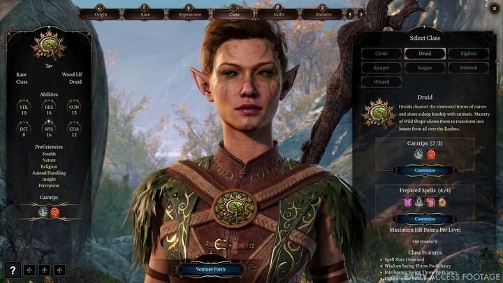 Aperçu du Druide de Baldur's Gate 3