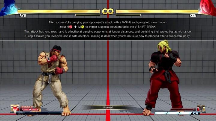 Street Fighter V présente sa nouvelle mécanique défensive, le V-Shift