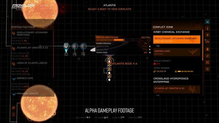 Présentation des zones de conflits d'Elite Dangerous: Odyssey