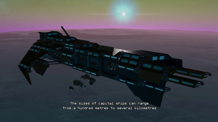 Présentation des vaisseaux capitaux du MMO Starbase