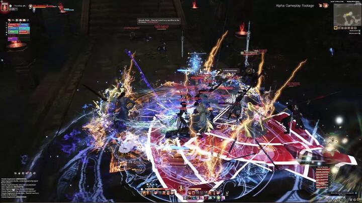 Gameplay de donjon : exploration des Ruines des flots déchaînés de Swords of Legends Online
