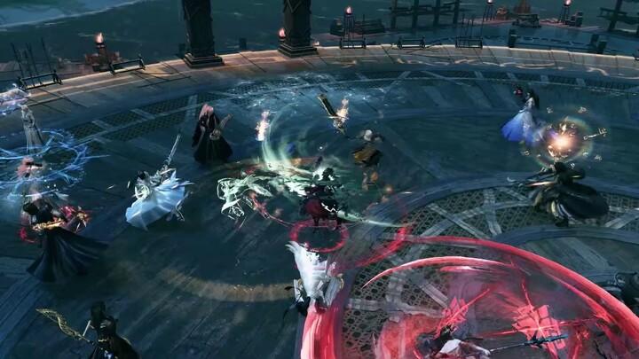 Aperçu du gameplay PvP 10vs10 de Swords of Legends Online : combats d'arènes