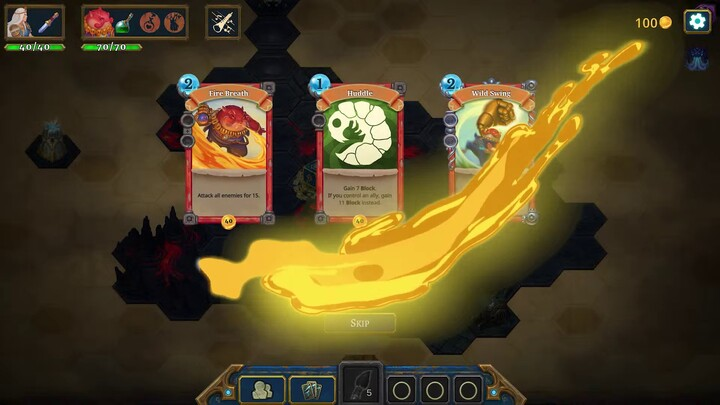 Roguebook présente son gameplay - un Deck Building poussant à accumuler des cartes