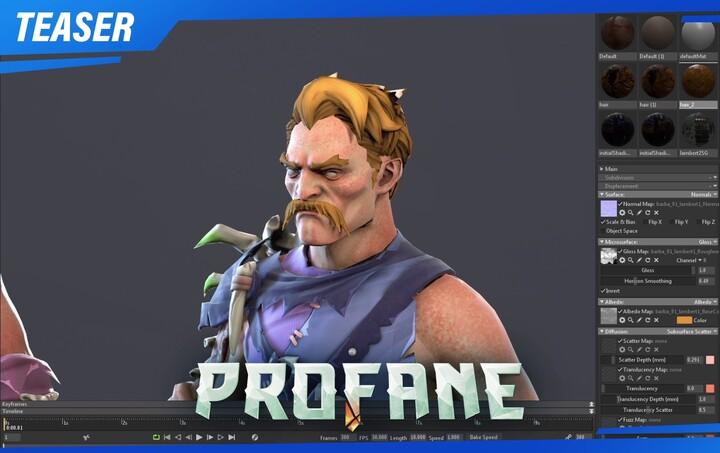 Teaser : aperçu des options de personnalisations des avatars du MMORPG Profane