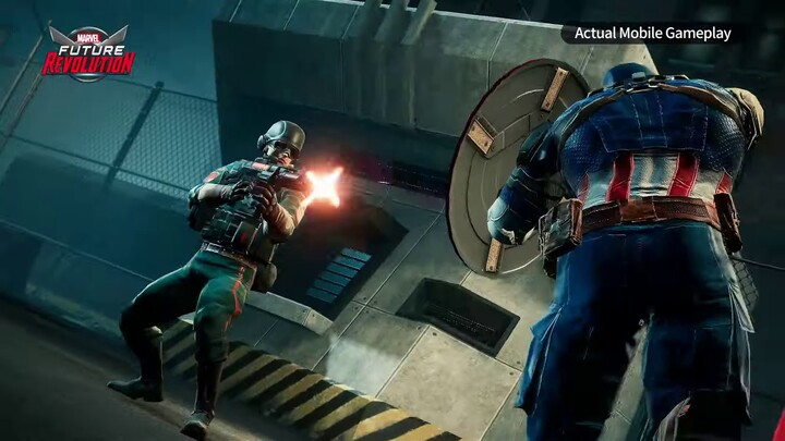 Aperçu du gameplay de Captain America dans Marvel Future Revolution