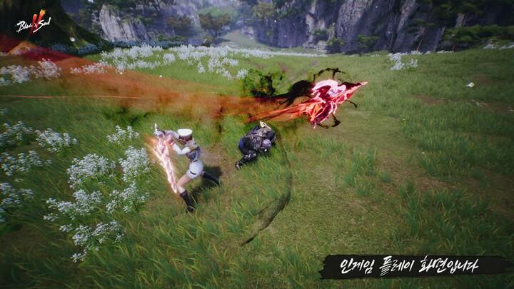 Aperçu du gameplay de Blade & Soul II : hache contre épée