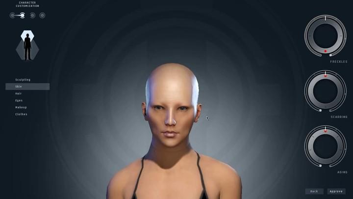 Aperçu de la création de personnages féminins dans EVE Online