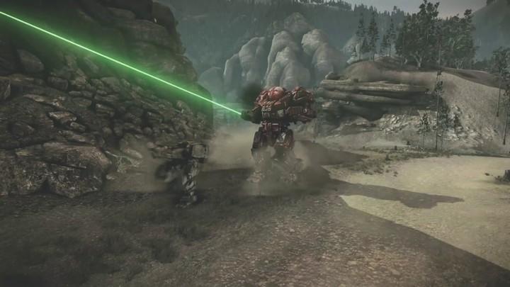 Teaser de gameplay de MechWarrior Online