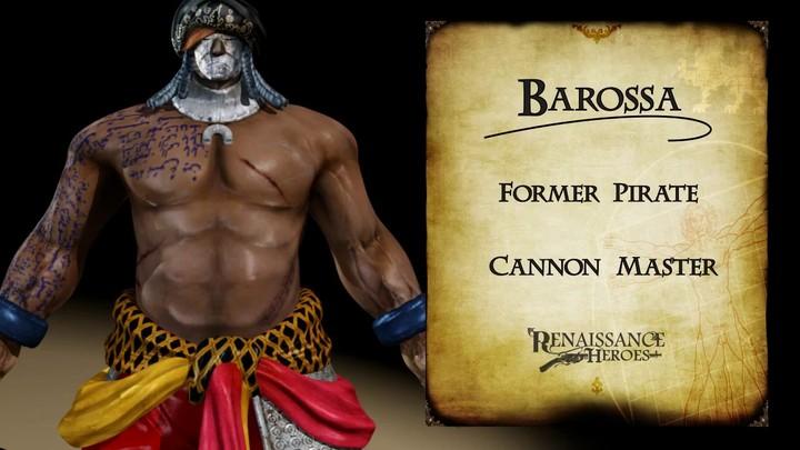 Zoom sur Barossa, le pirate de Renaissance Heroes