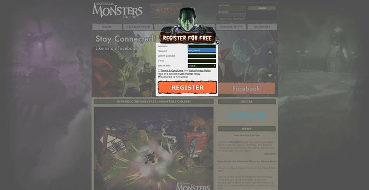 Premier tutorial du MOBA Universal Monsters Online