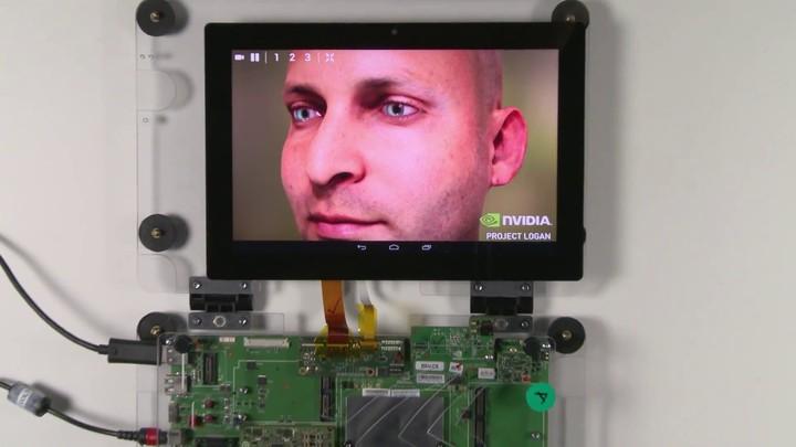 Démonstration technique sur tablette avec le Projet Logan de Nvidia