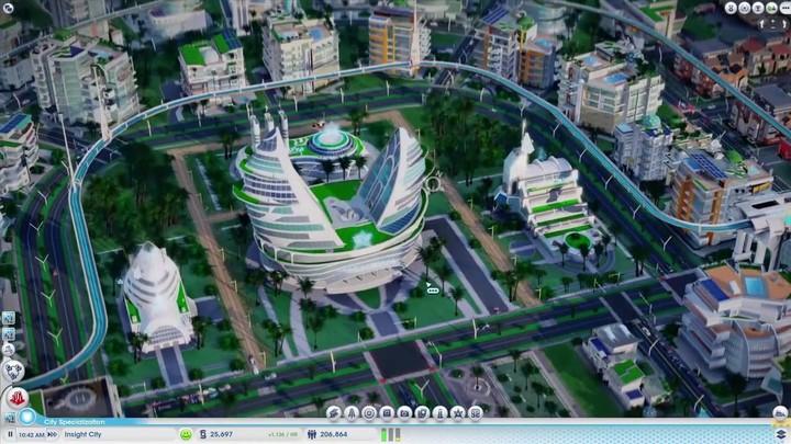 Aperçu des Villes de Demain de Sim City