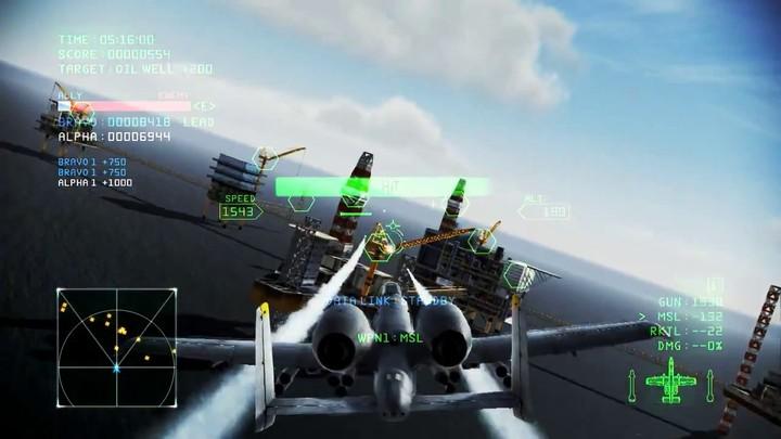Aperçu des missions coopératives d'Ace Combat Infinity