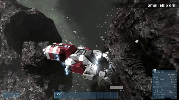 L'ajout du minage sur Space Engineers
