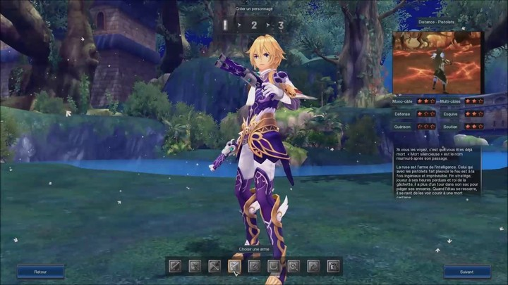 La création de personnage sur Aura Kingdom