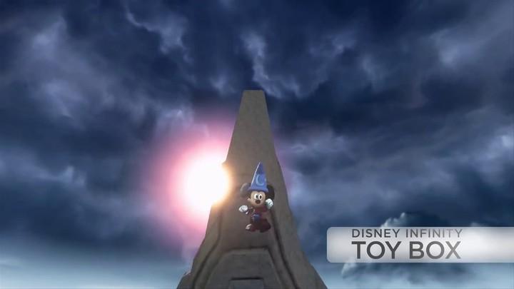 "Aperçu de ""Mickey l'apprenti sorcier"" dans Disney Infinity"