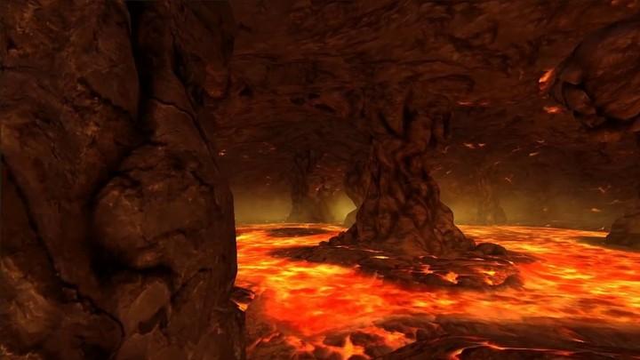 """Aperçu du circuit volcanique """"Chthonic Crater"""" de Quantum Rush"""