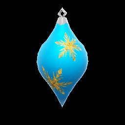 Icon props Theme Seasonal Winter Ornaments BlueCone01 256.png